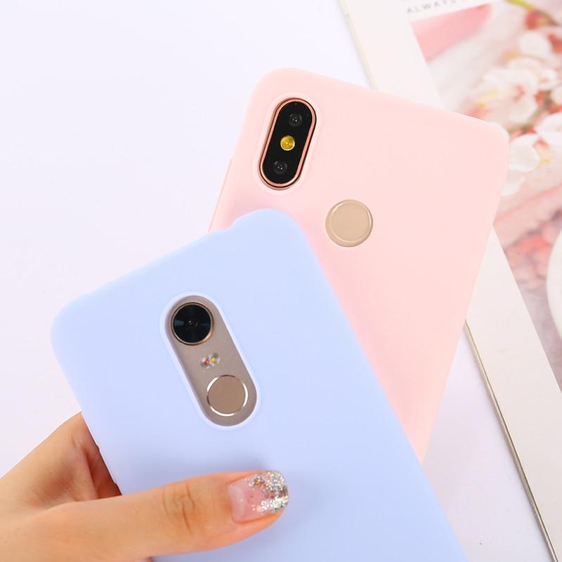 Цветной ТПУ силиконовый чехол для Xiao mi Red mi Note 6 5 7 8 Pro Red mi 7 6A 7A матовый чехол для Xiaomi mi 9 SE mi 9T mi 8 Lite mi A2 A1 A3