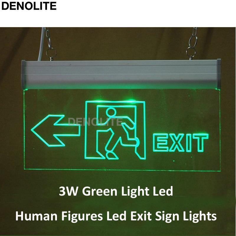 10pcs Lot Clear Pmma Led Exit Sign Light Ni Cd1 2v 90mins