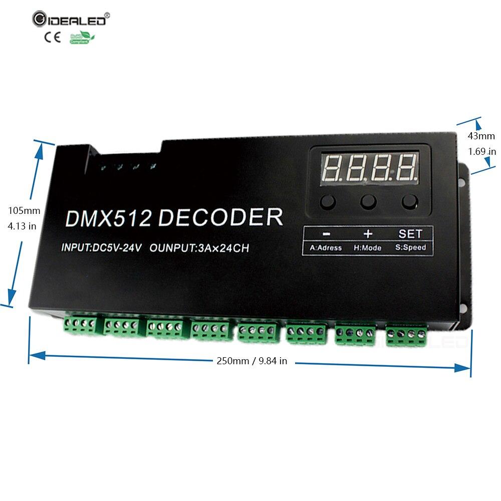 DIY 24-kanals DMX-avkodare för 8-grupp RGB LED Strip Controller 72A - Belysningstillbehör - Foto 4