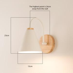 Image 5 - Luces de pared de madera para mesita de noche lámpara de pared para dormitorio, candelabro para cocina, restaurante, lámpara de pared moderna, apliques nórdicos de macarrón