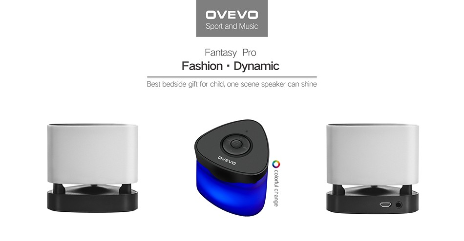 OVEVO FANTASY PRO Z1 SMART FOCUS LED SPEAKER LIGHT INTELLIGENT MULTI-COLOR LED TOUCH CONTROL LAMP BLUETOOTH 4 1