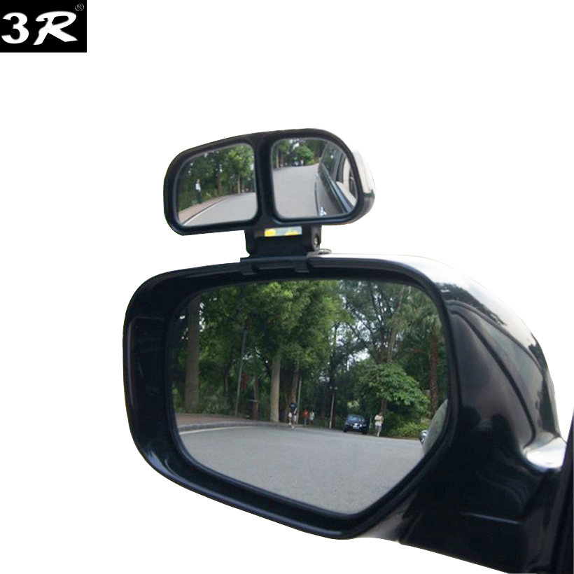 1piece Original 3R blind spot Square mirror auto Wide Angle Side Rear view Mirror Car Double convex mirror universal for parking 2 in 1 car blind spot mirror wide angle mirror 360 rotation adjustable convex rear view mirror view front wheel car mirror