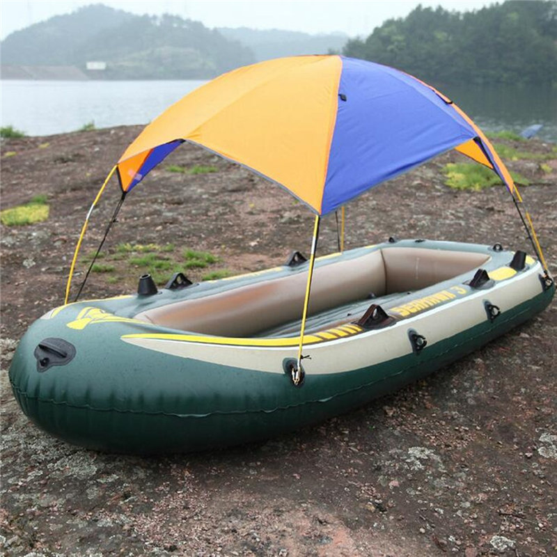 Top 3 person Inflatable Boat Sun Shelter Sailboat Awning Cover Kayak <font><b>Fishing</b></font> Tent Sun Shade Rain Canopy Awning Kayak Accessories
