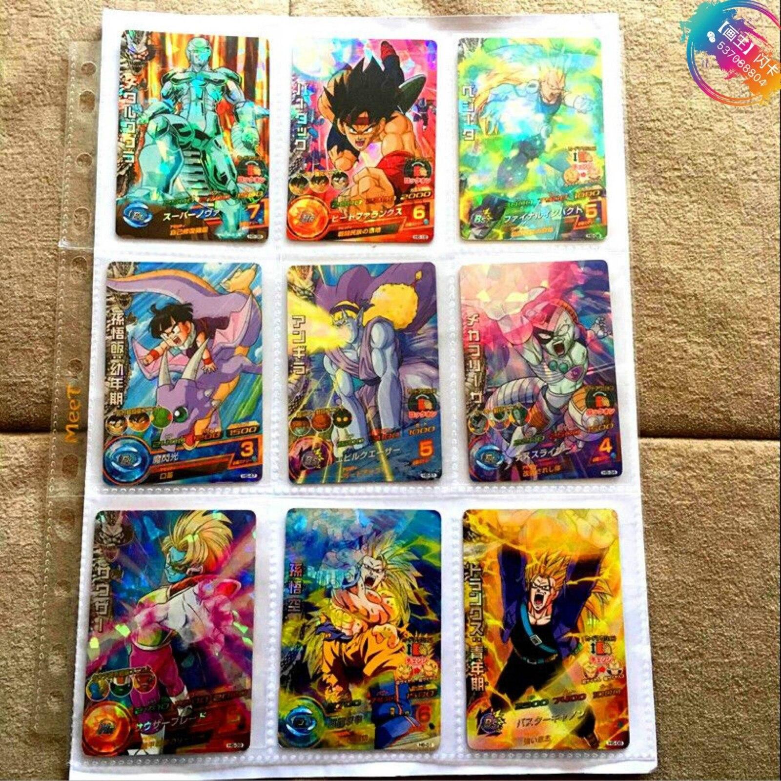 Japan Original Dragon Ball Hero Card SR Flash 3 Stars H5 Goku Toys Hobbies Collectibles Game Collection Anime Cards