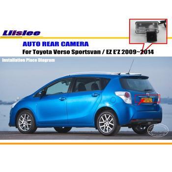 Tylna kamera samochodowa do Toyota Verso Sportsvan EZ E #8217 Z 2009 ~ 2014 NTST PAL CAM tanie i dobre opinie Liislee CN (pochodzenie) Plastikowe + Szkło Drutu Pojazd backup kamery Z tworzywa sztucznego
