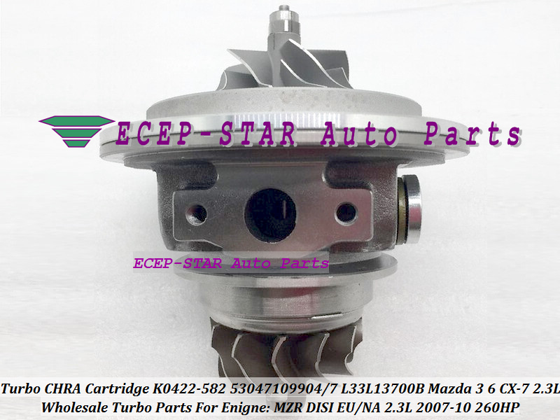 Turbo Cartridge CHRA K0422-582 53047109904 53047109907 L33L13700C L3YC1370Z L3Y11370ZC L3Y31370ZC For MAZDA 3 CX-7 MZR DISI 2.3LTurbo Cartridge CHRA K0422-582 53047109904 53047109907 L33L13700C L3YC1370Z L3Y11370ZC L3Y31370ZC For MAZDA 3 CX-7 MZR DISI 2.3L