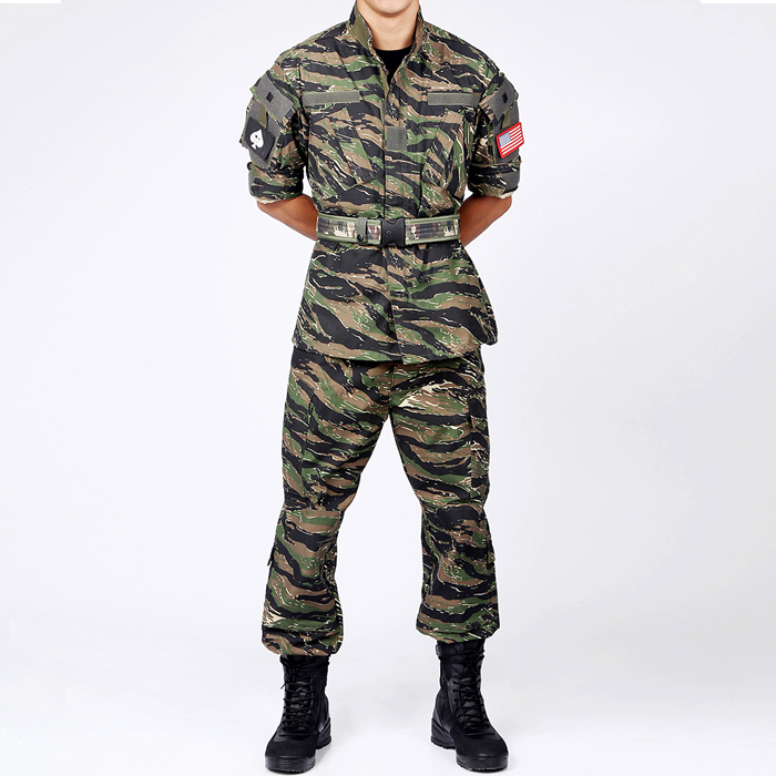 US Army Vietnam War Tiger Stripe Camo German Army Desert Camo BDU Uniform Shirt Pants drawstring spliced camo jogger pants