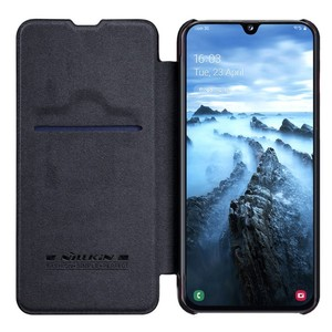 Image 1 - For Samsung Galaxy A40/A50/A10/A30 Cover case Nillkin Qin PU Luxury Flip leather back cover wallet case
