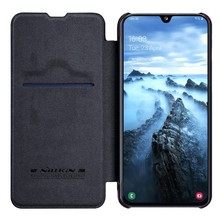 Voor Samsung Galaxy A40/A50/A10/A30 Cover case Nillkin Qin PU Luxe Flip leather back cover wallet case