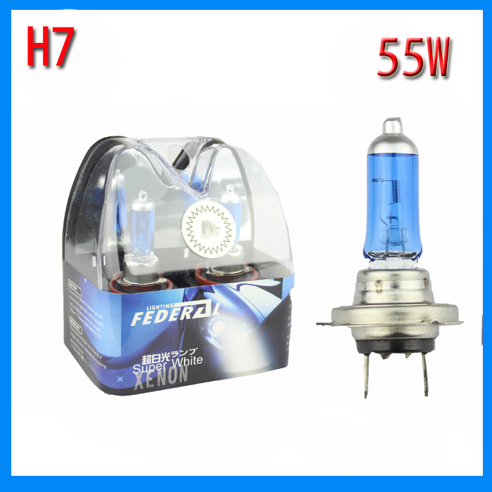 2pcs car headlight H7 bulb 55w halogen replacement original auto headlamp yellow white free shipping free shipping 2016 high quality kobo h7 halogen bulb super white car headlight bulb 12 v 55w 5500k price for pair auto access