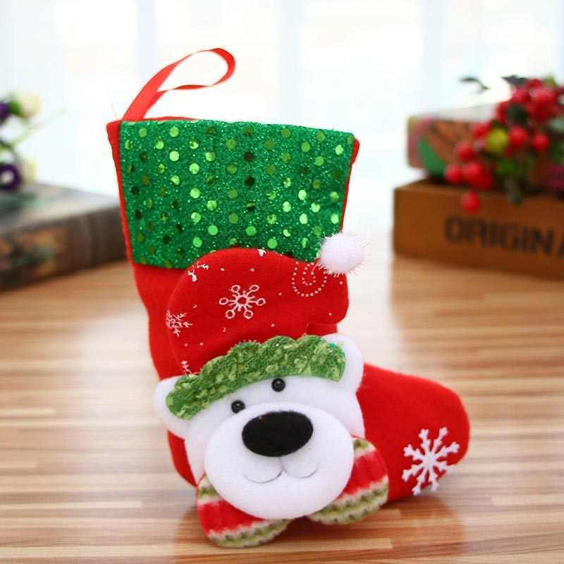 Рождественские носки с Рождеством милые украшения праздничные вечерние Висячие конфеты подарочные сумки Рождественская елка украшения GHS99