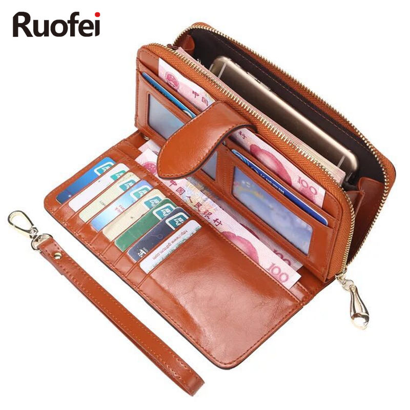 купить 2017 New Hot Sale Wallet Brand Coin Purse Split Leather Women Wallet Purlet Wallet Female Card Holder Long Lady Clutch A66 по цене 671.82 рублей