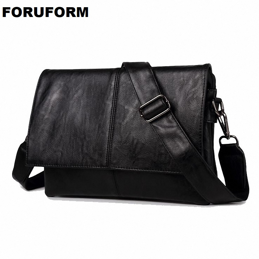 Leather Bag Men Bag Messenger Casual Men's Travel Bag Leather Clutch Crossbody Bags Male Shoulder PU Leather Handbag NEW LI-2012