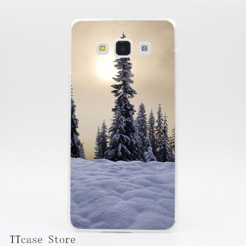 4088CA Winter Sun Transparent Hard Cover Case for Galaxy A3 A5 A7 A8 Note 2 3 4 5 J5 J7 Grand 2 & Prime