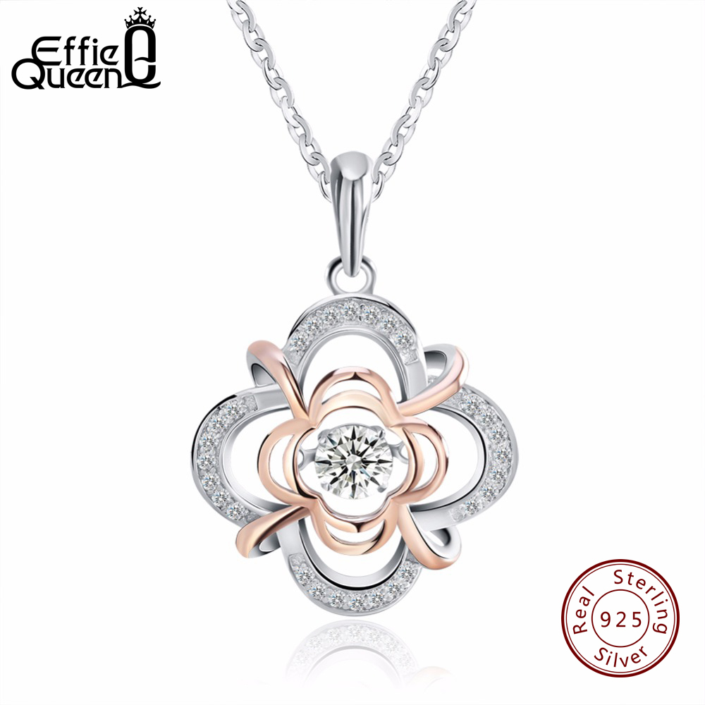 Effie Queen 100% 925 Sterling Silver Material Womens