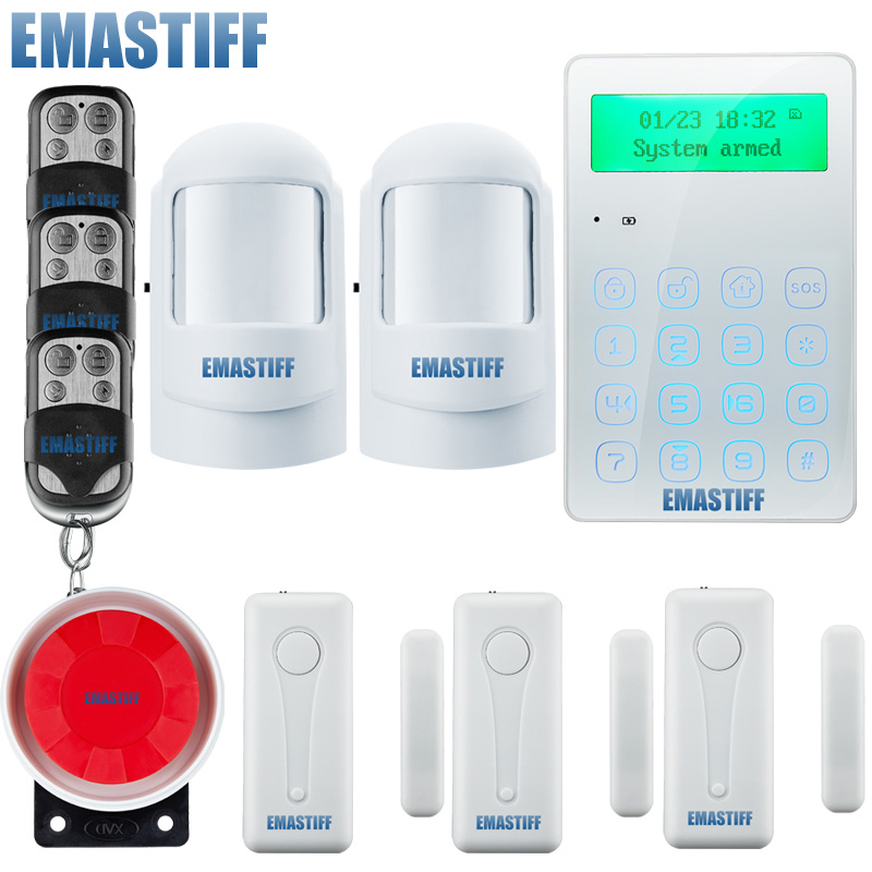 GSM SMS Home Burglar Security Alarm System PIR Motion Detector APP Control Sensor Alarm support Fire Smoke Detector Alarm 1set home security protection gsm sms wireless alarm system pir motion detector smoke alarm magnet door sensor wireless siren
