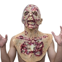 Adult Latex Scary Mask Full Head Face Breathable Halloween Horrible Horror Dress Up Props Festive Party Supplies