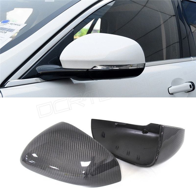 Replacement Style & Add On Style For Jaguar XK XF XJ XKR XE 2011 2012 2013 2014 Carbon Fiber Car Rear Side View Mirror Cover for ford mustang 2008 2009 2010 2011 2012 2013 add on style carbon fiber rear view mirror cover black finish