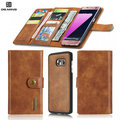Brand logo 2 in 1 Flip Cowhide Leather wallet Magnetic Back Cover phone Case With Stand Card Holder For Samsung Galaxy S7 Edge