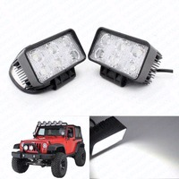 2x 6LED Square Spot Beam Work Light Lamp Offroad Car Truck Motorcycle Trailer Boat Fog Driving Lights Auto LED Worklights