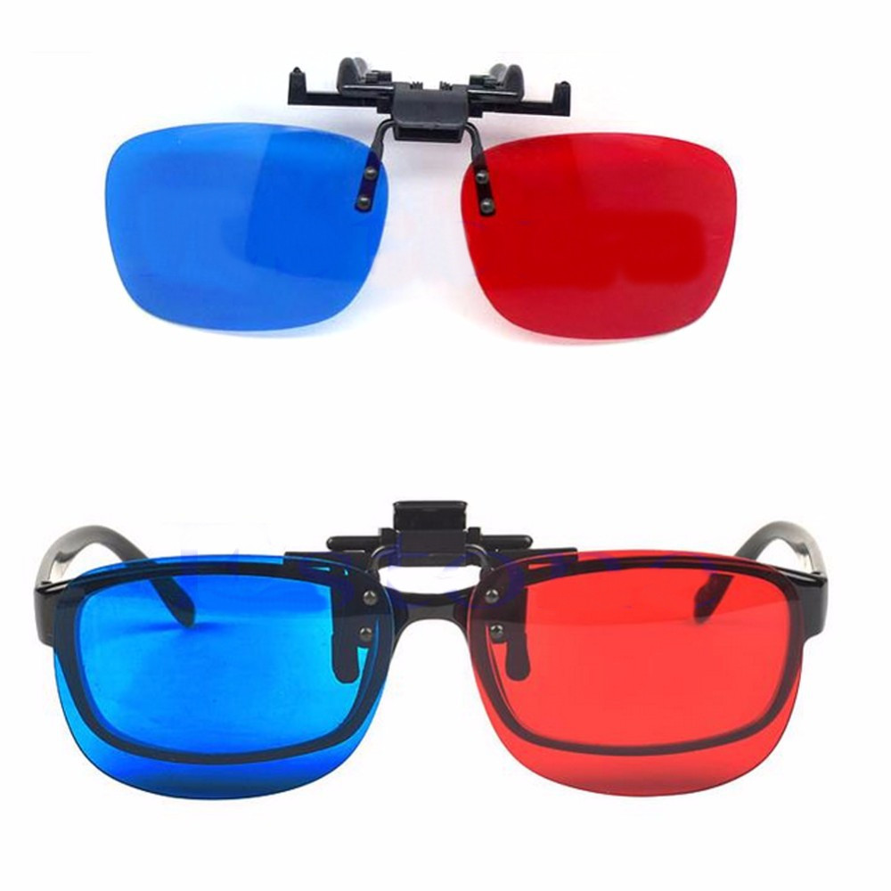 Red Blue 3D Glasses Hanging Frame 3D Glasses Myopia Special Stereo Clip Type