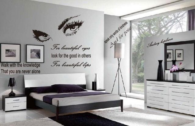 Wall Stickers Home Decor 60 132 Audrey Hepburn Eyes Proverbs Signature Living Room