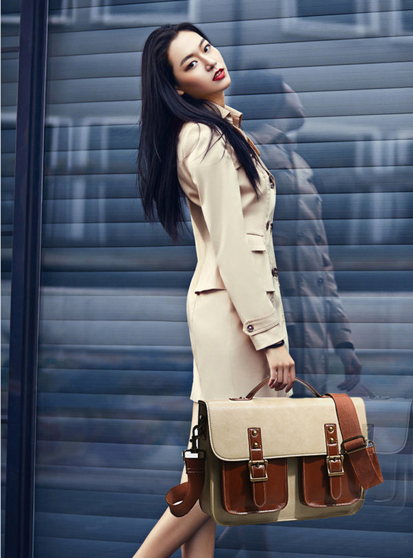 Steampunk Genuine Leather Victorian british women bags  Steam Punk Retro Handbags lady shoulder working briefcase Messenger bag tote bags for work