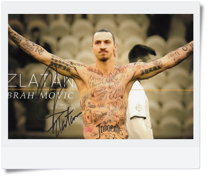 signed Zlatan Ibrahimovic autographed  original photo 7 inches freeshipping 062017 B signed haruki murakami autographed original photo 7 inches freeshipping 062017