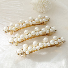 1 pcs Fashion Metal Pearl Hair Clips Women Stick Hairpin Hairband Comb Bobby Pin Barrette Hairgrip Accessories
