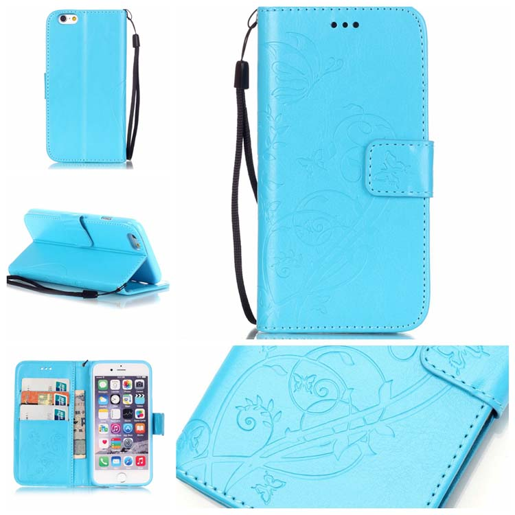 Flip Patterned 3D Bling PU Leather Wallet Card Slot Stand Case Cover Bumper For Apple iphone 7 Plus 8 Plus