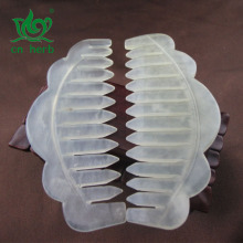 Cn Herb Hot Petals Shape Pattern Jade Combs Pure Natural Massage Head 1 Pcs