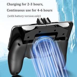 Image 2 - PBUG Mobile L1R1 shooter controller di gioco con dispositivo di raffreddamento del ventilatore pubg joystick per il telefono gioco supporto pubg trigger console oyun konsolu