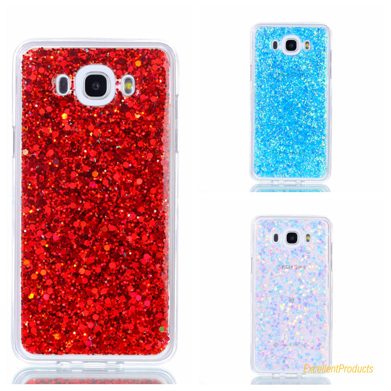 Charming Sequins Flashing Soft Tpu Phone Case For Samsung J710 J7 2016 Cover Full Protective case