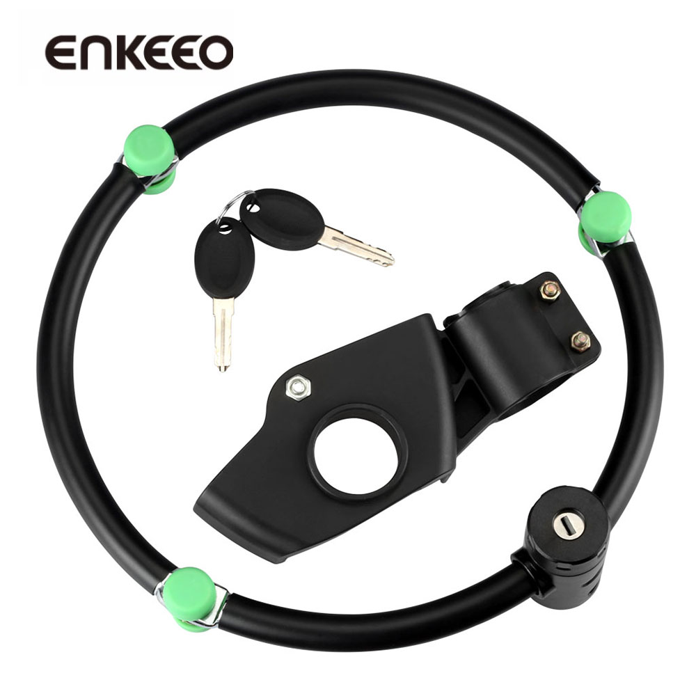 Enkeeo Folding Bike Lock Highly Secure LOCK with Keys and Mounting Bracket for Outdoor Cycling Bicycle Security Safety stylish bicycle lock and round pendant double sweater chains for women
