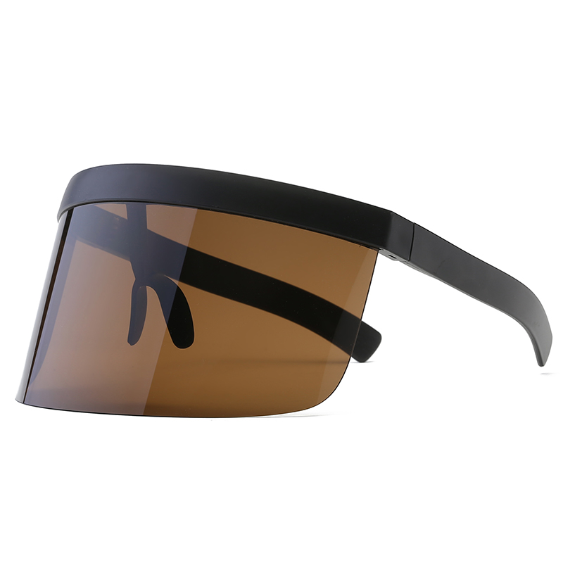 M MISM 2019 Fashion Oversized WomenMen Mask Sunglasses Outdoor One Piece Big Frame Sunglasses Sun Protective