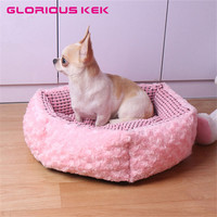 Glorious Kek Dog House Pink Dog Cat Bed Luxury Princess Small Dog Kennel For Home Soft
