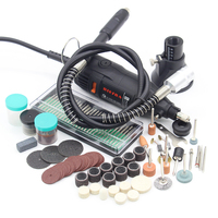 RIESBA High Quality 220V 110V 180W Dremel Style Electric Rotary Tool Variable Speed Mini Drill Abrasive
