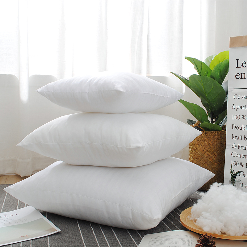1pc Home Decorative <font><b>Pillow</b></font> Core - Square 18 x18 Inch Sofa and Bed <font><b>Pillow</b></font> Insert Cushion - Polyester Cotton Indoor White <font><b>Pillows</b></font>