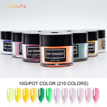 LaMaxPa Colors Dipping Powder No Lamp Cure Nails Dip Powders Red Gel Nail Natural Dry For Salon
