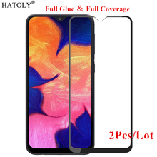 2Pcs For Samsung Galaxy A10 Glass Tempered for Film Full Glue Screen Protector