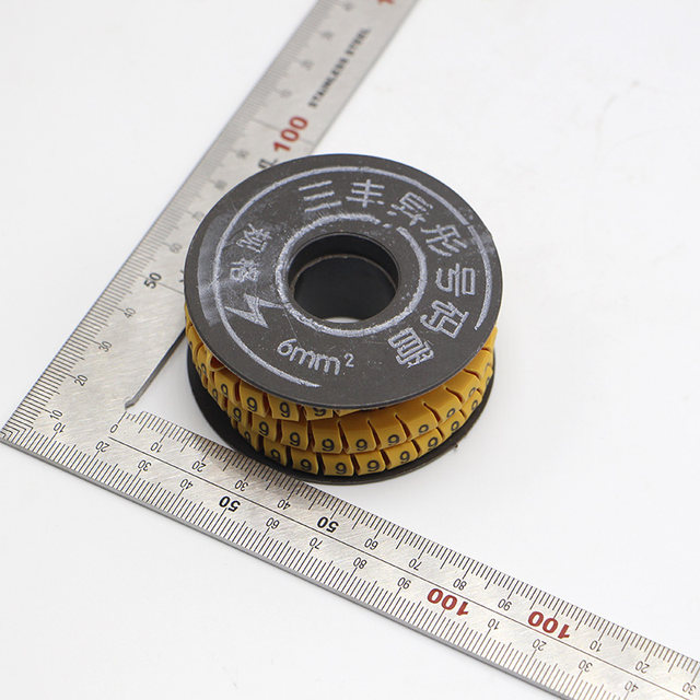 Online Shop 10 Rolls/Lot 6mm Square Wire Cable Marker Cable Sleeve ...