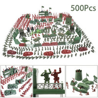 500Pcs/set Military Soldier Toy Kit Army Men 4cm Figures & Accessories Playset Toys Decor Gift For Children Boys