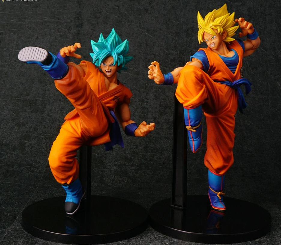 2 styles Dragon Ball Z Super anime cartoon Super Blue son goku action toy figures Collection model toy KEN HU STORE free shipping super big size 12 super mario with star action figure display collection model toy