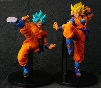 2 Styles Dragon Ball Z Super Anime Cartoon Super Blue Son Goku Action Toy Figures