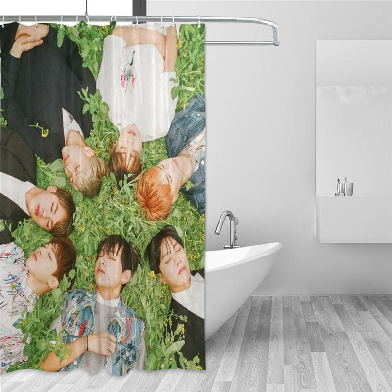 High Grade Polyester Waterproof Shower Curtain KPOP BTS Bangtan Boys  Bulletproof Boy Scouts Thicken Bathroom