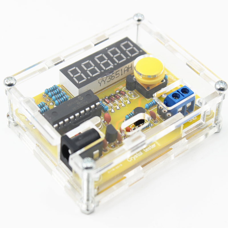 New Arrival DIY Kits 1Hz-50MHz Crystal Oscillator Tester Frequency Counter TESTER Meter Case Best Price Durable DIY Led Kit