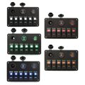 1 Conjunto DC 12-24 V Carregador de Carro Dupla Porta USB + LED Display Digital Amperímetro Voltímetro Switch