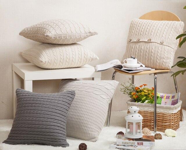Tejer lana Fundas de colchón moderno minimalismo color gris beige ...
