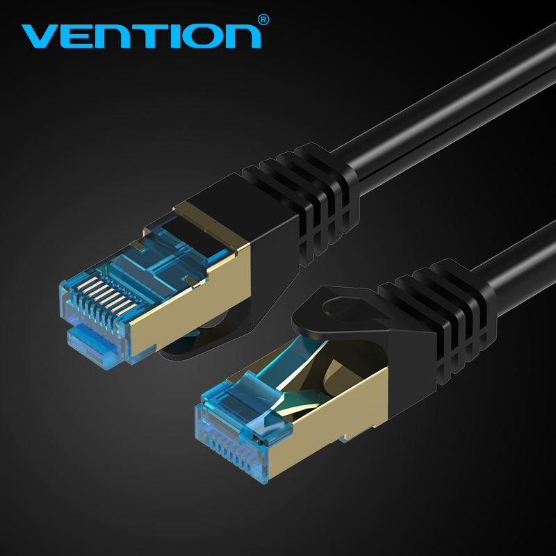 Vention High Speed CAT7 RJ45 Patch Ethernet LAN Cable Network Cable 0.75m/1m/1.5m/2m/3m/5m for Router Switch Computer Laptop 1m 3m 5m 10m 15m ethernet cable cat7 lan network cable flat rj45 high speed patch stp gigabit cords xxm