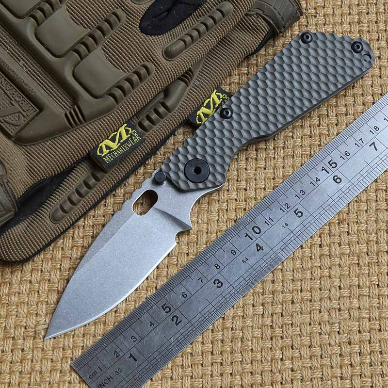 DICORIA SNG folding knife D2 blade Copper washers bearing carbon fibre titanium camping hunting outdoor fruit